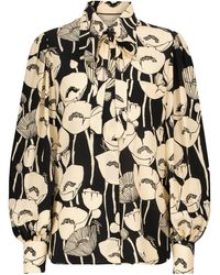 Gucci Floral Silk Shirt - Black