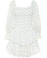 LoveShackFancy Exclusivo en Mytheresa – vestido corto Raelynn de algodón - Multicolor