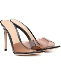 Gianvito Rossi Elle 105 Leather Sandals - Brown
