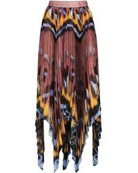 Altuzarra Isobel High-rise Printed Maxi Skirt - Red