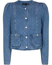 Veronica Beard Chaqueta Camilla de jeans acolchada - Azul