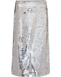 Ganni Sequined Skirt - Metallic