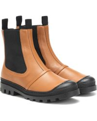 Loewe Leather Ankle Boots - Multicolour