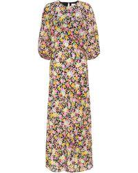Les Rêveries Floral-print Silk-chiffon Midi Dress - Multicolour