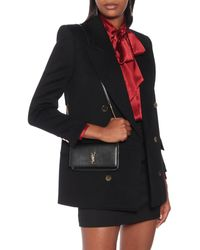 Saint Laurent Leather Iphone Shoulder Bag - Black
