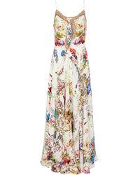 Camilla Printed Silk Maxi Dress - Multicolor