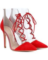 Gianvito Rossi Exclusive To Mytheresa – Icon 105 Pvc And Suede Ankle Boots - Red
