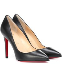 Christian Louboutin Pigalle 100 Leather Court Shoes - Black