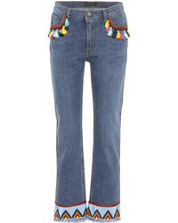 Etro - Embroidered Jeans - Lyst