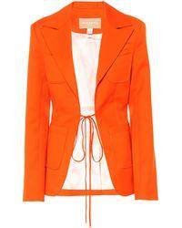 Materiel Tbilisi Blazer aus Woll-Twill - Orange