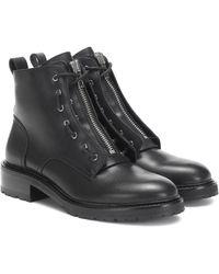 Rag & Bone Ankle Boots Cannon aus Leder - Schwarz