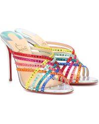 Christian Louboutin Sandalias Martha 100 adornadas - Multicolor