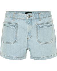 A.P.C. High-rise Denim Shorts - Blue