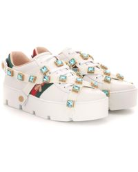 Gucci - Sneakers New Ace in pelle - Lyst