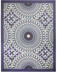 Valentino Exclusivo en Mytheresa - pareo de algodón y seda - Azul