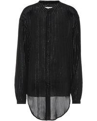 Saint Laurent - Striped Metallic Shirt - Lyst