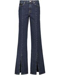 7 For All Mankind Jeans anchos de tiro alto - Azul