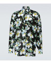 Tom Ford Camisa oversized con estampado floral - Negro