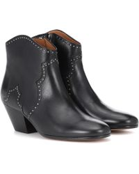 Isabel Marant - Dicker Leather Ankle Boots - Lyst