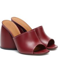 Neous Epige Leather Sandals - Red