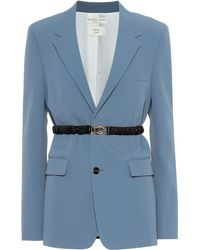 Bottega Veneta Technical Gabardine Blazer - Blue