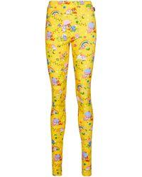 Balenciaga Leggings de algodón elastizado - Amarillo