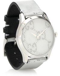 Gucci Uhr G-Timeless 38mm aus Stahl - Mettallic