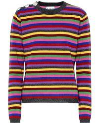 Ganni Pullover a righe in cashmere - Multicolore