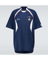 Balenciaga Short-sleeved Soccer T-shirt - Blue