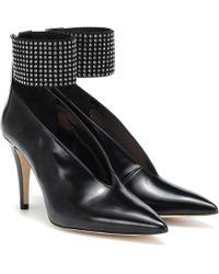 Christopher Kane Crystal-embellished Leather Pumps - Black
