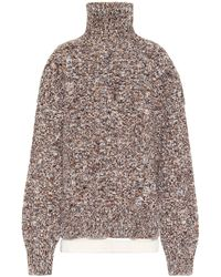 Jil Sander Wool-blend Turtleneck Jumper - Multicolour
