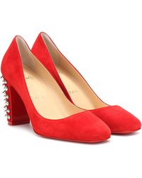Christian Louboutin Pumps Donna Stud Spikes 85 - Rot