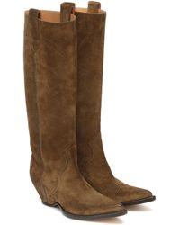 Maison Margiela Suede Cowboy Boots - Brown