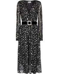 Rebecca Vallance Notte Printed Midi Dress - Black