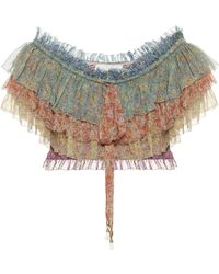 Zimmermann Carnaby Floral Silk Blouse - Multicolor