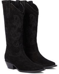 Etro Stiefel aus Veloursleder - Schwarz