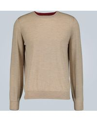 Brunello Cucinelli Wool And Cashmere-blend Sweater - Brown