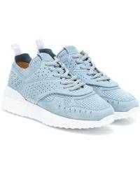 Tod's Sneakers aus Veloursleder - Blau