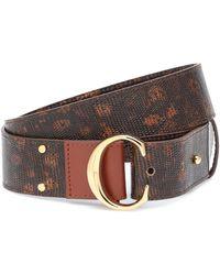 Chloé C Leather Belt - Brown