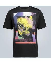 Dries Van Noten T-shirt di cotone stampato - Nero