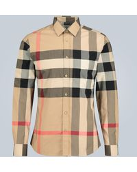 Burberry Somerton Checked Shirt - Natural