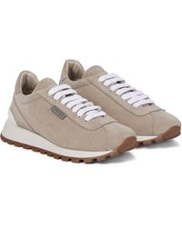 Brunello Cucinelli Exclusive To Mytheresa – Suede Sneakers - Natural
