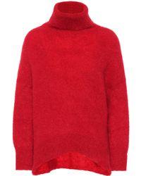 Valentino Mohair-blend Turtleneck Jumper - Red