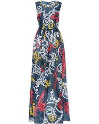 Mary Katrantzou Printed Silk Gown - Blue