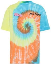 Palm Angels T-shirt a stampa in cotone - Blu