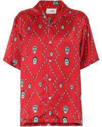 Kirin Pyjama-Oberteil aus Satin - Rot
