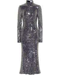Galvan London Legato Sequined Midi Dress - Multicolor