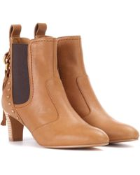 See By Chloé - Leather Ankle Boots - Lyst