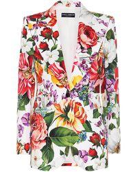 Dolce & Gabbana Blazer de algodón floral - Multicolor