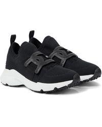Tod's Sneakers aus Strick - Schwarz